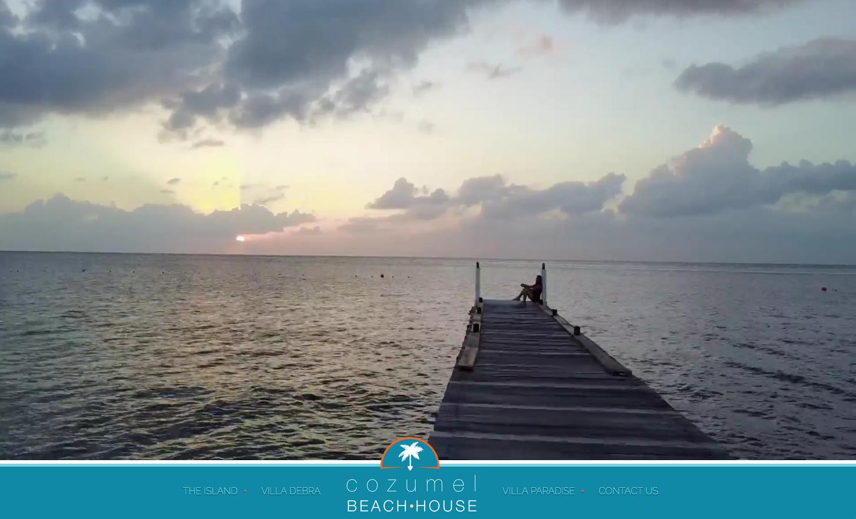 Cozumel Beach House Website