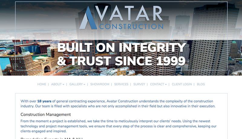 Avatar Construction Webstie