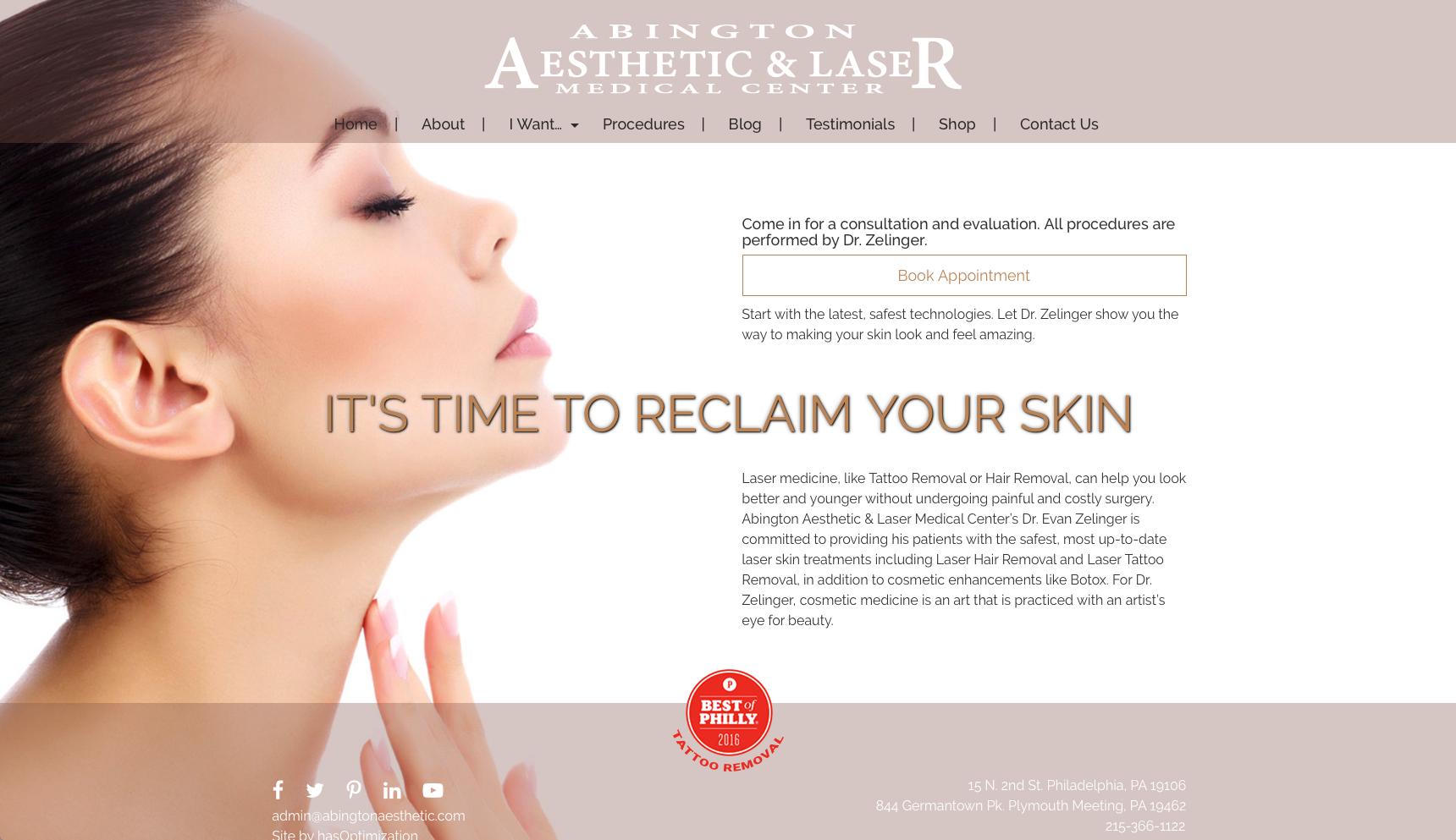 Abington Aesthetic Website