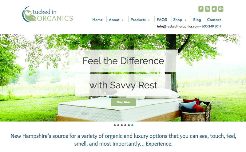 Tucked In Organics Website