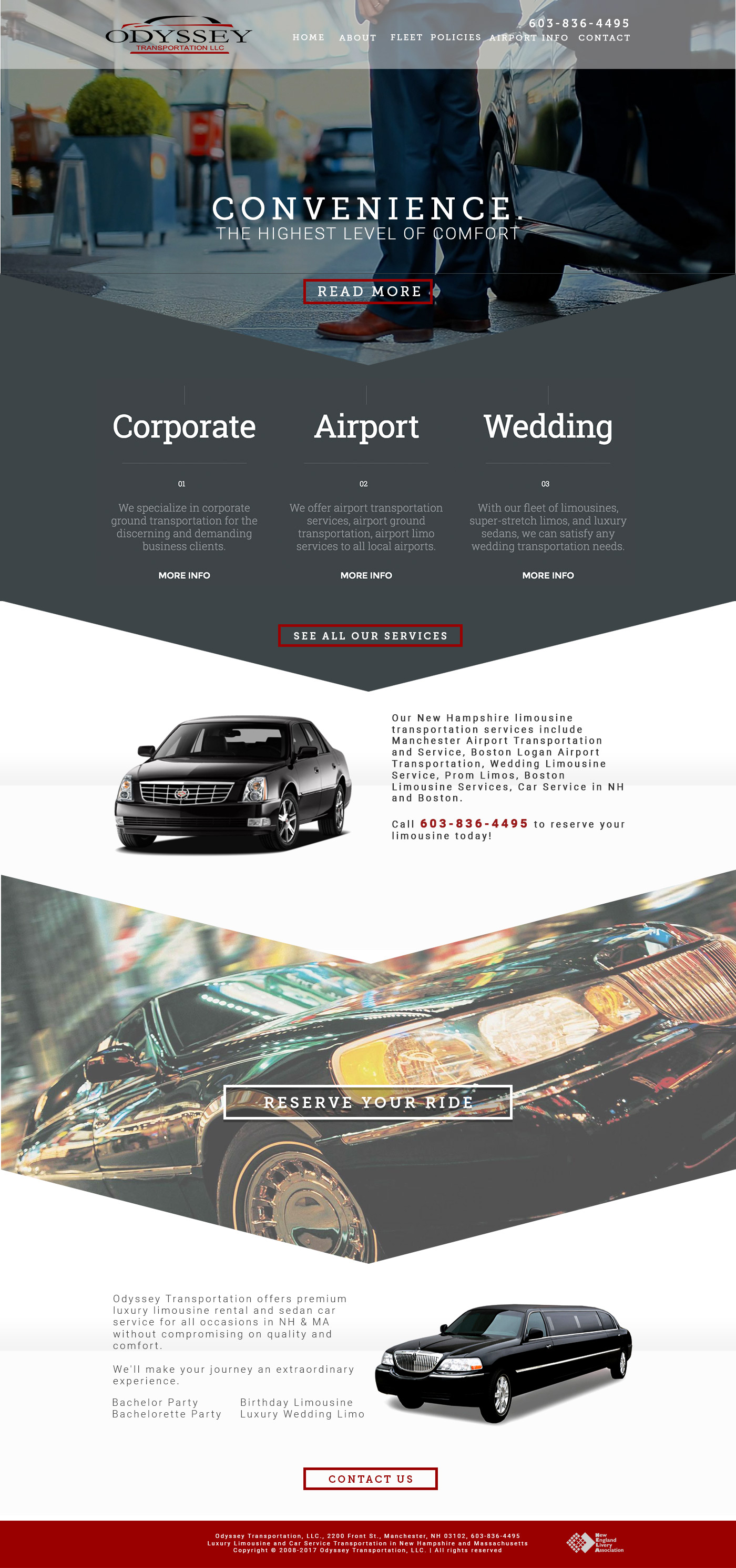 Odessey Limo Website
